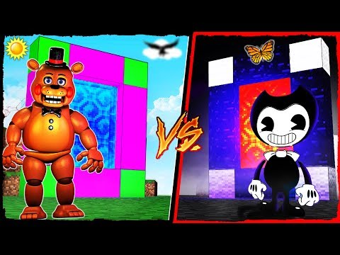 Minecraft - FNAF PORTAL VS BENDY PORTAL