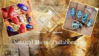 ⚓☸Nautical Nailart Collab with DreamyMM☸⚓
