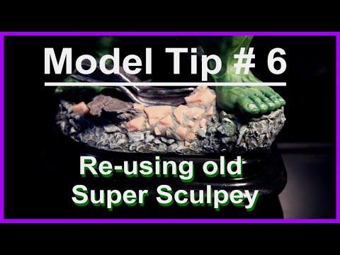 Modelling Tip # 6 Re-using old Super Sculpey