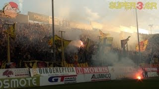 ARIS vs Asteras Tripolis 5-1 || Earthquake in Thessaloniki (14.04.2013)
