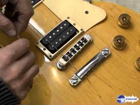 Monter des cordes sur une guitare électrique de type Les Paul