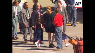 Italy-Sarah Ferguson returns to UK to mourn Diana