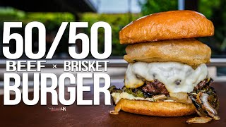 The Best 50/50 Burger (with Brisket!) | SAM THE COOKING GUY 4K