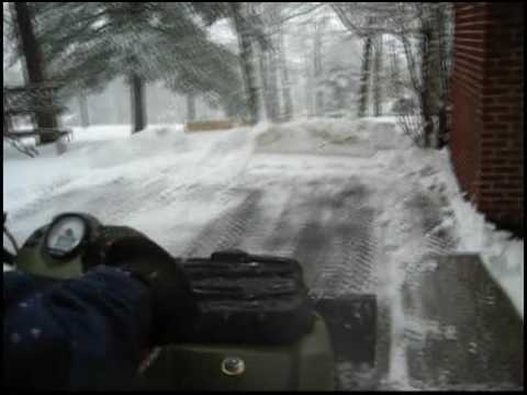 Snow plowing with ATV