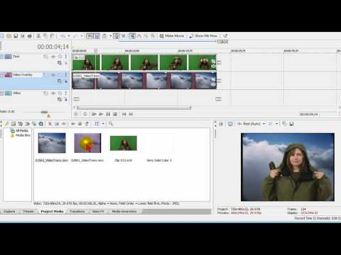 Green Screen & Chromakey Effects using Sony Vegas Movie Studio