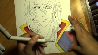 Drawing Howl from Howl's Moving Castle