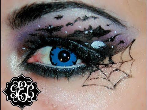 halloween bat eyes makeup tutorial tutorial de ojo