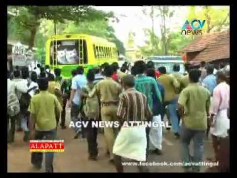 Varkala Sn College Private Buses Route Issus acv News Attingal.mpg video