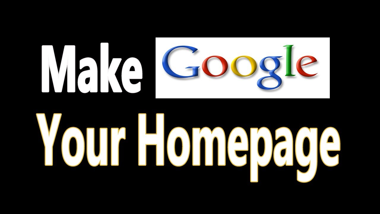 How to make google my default homepage on firefox
