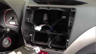 How to remove radio 2010 SUBARU WRX IMPREZA Diy