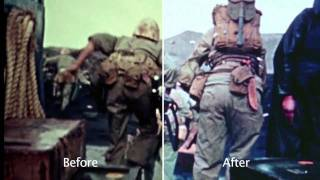 "The World at War ""Pacific"" - restored before & after clip 3"