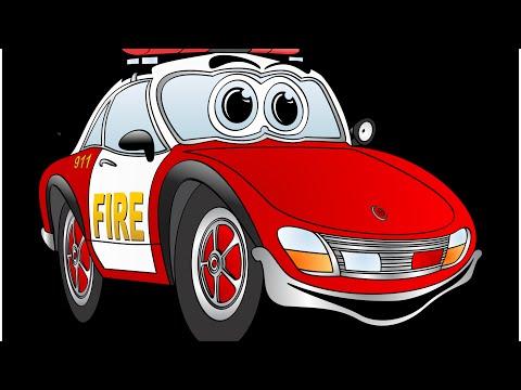 полицейский автомобиль мультфильм для детей - автомобильные мультфильмы для детей