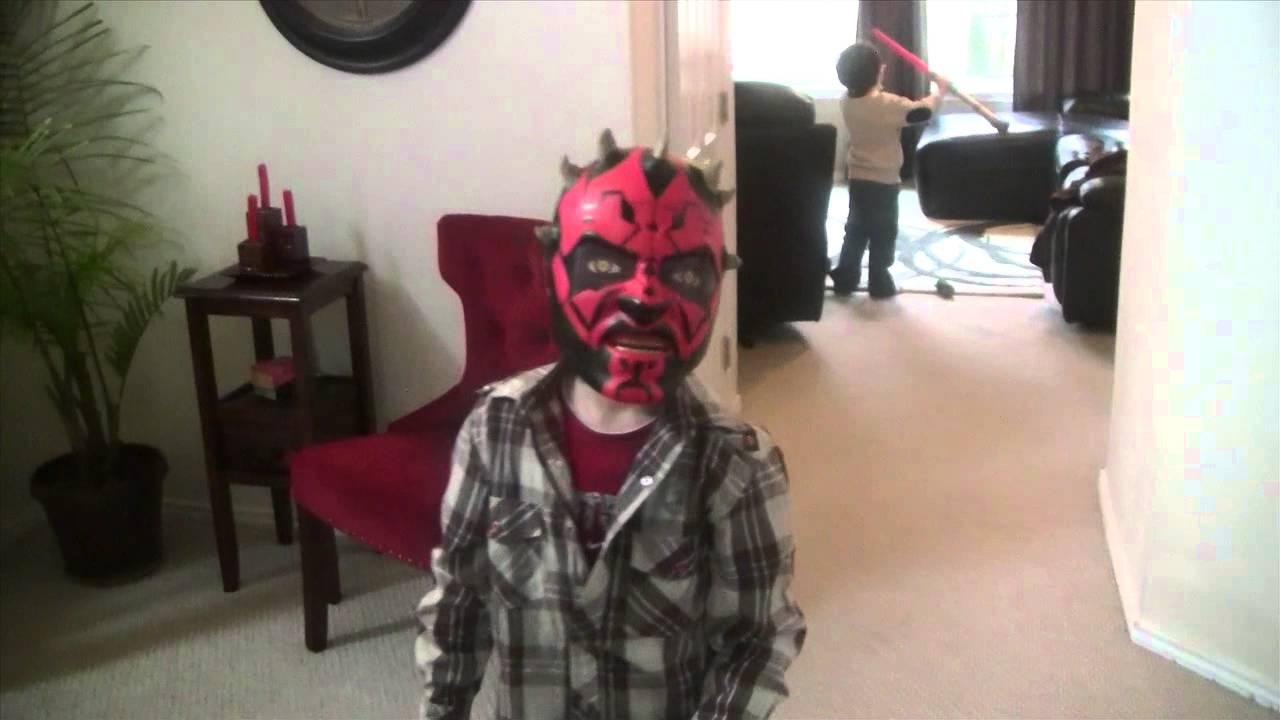 Darth Maul Mask And Lightsaber Toys Youtube
