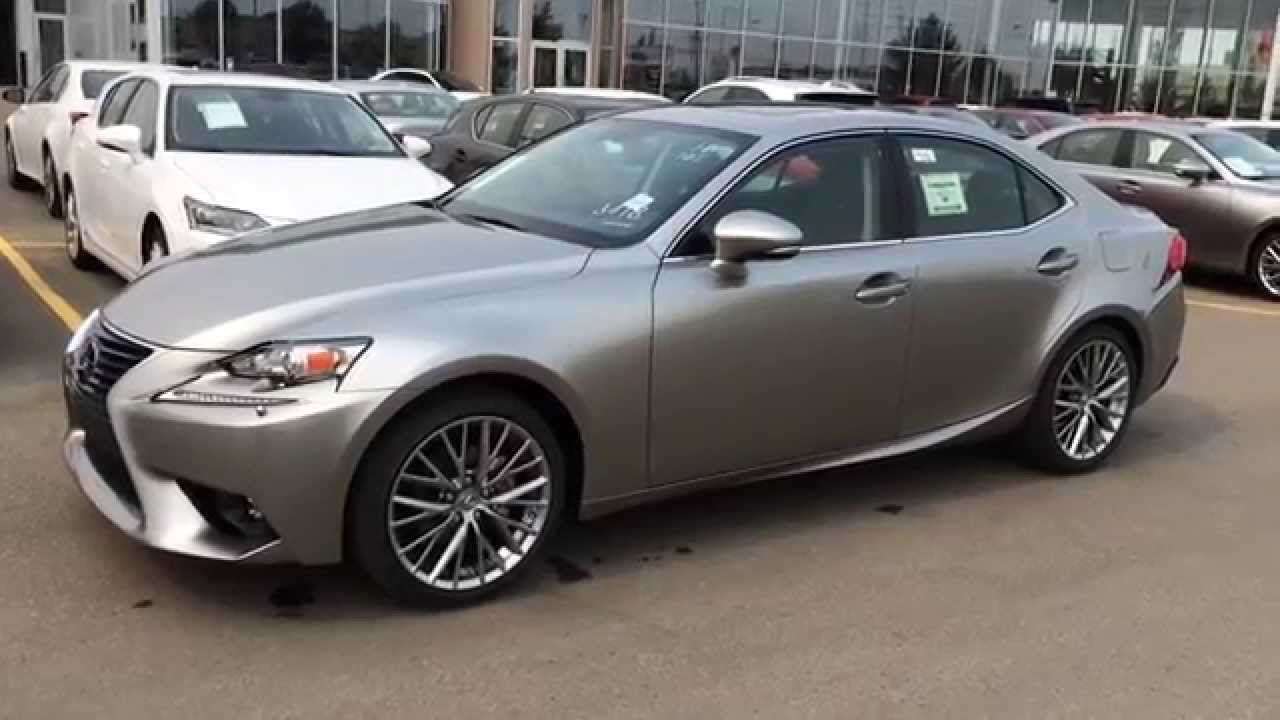 new atomic silver 2015 lexus is 250 awd premium package review downtown edmonton youtube. Black Bedroom Furniture Sets. Home Design Ideas