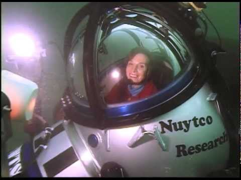 Diving in a 1 person submarine with Sylvia Earle.  Undersea explorer Dr. Sylvia Earle was exploring