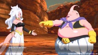 Dragon Ball FighterZ - Majin Buu Meets Android 21