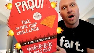 WORLD'S HOTTEST CHIP CHALLENGE! (Carolina Reaper Pepper Chip)