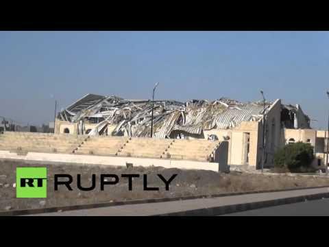 Yemen: International Sports stadium destroyed by Saudi-led coalition bombs