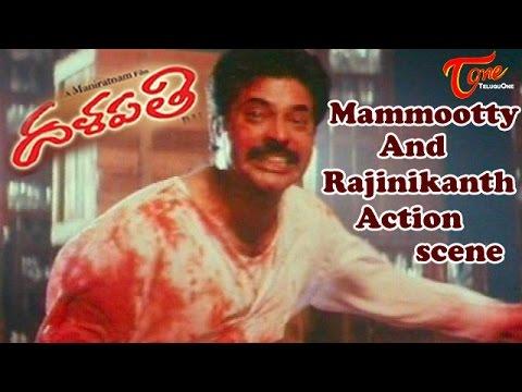 Rajinikanth and Mammootty Action scene || Dalapathi Movie