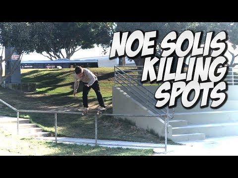 NOE SOLIS & BERRONTE RAMIREZ SKATE A CRAZY RAIL !!! - NKA VIDS -
