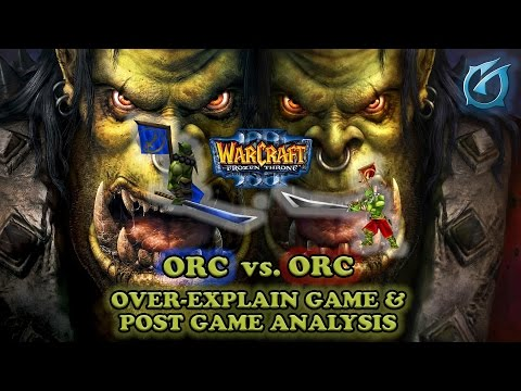 Grubby | Warcraft 3 The Frozen Throne | Orc vs. Orc Over-Explain Game with Post-Game Analysis