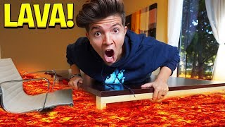 MINECRAFT but THE FLOOR IS LAVA... (PrestonPlayz Challenge)