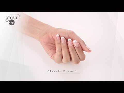 Gelish Dip Step by Step French Manicure