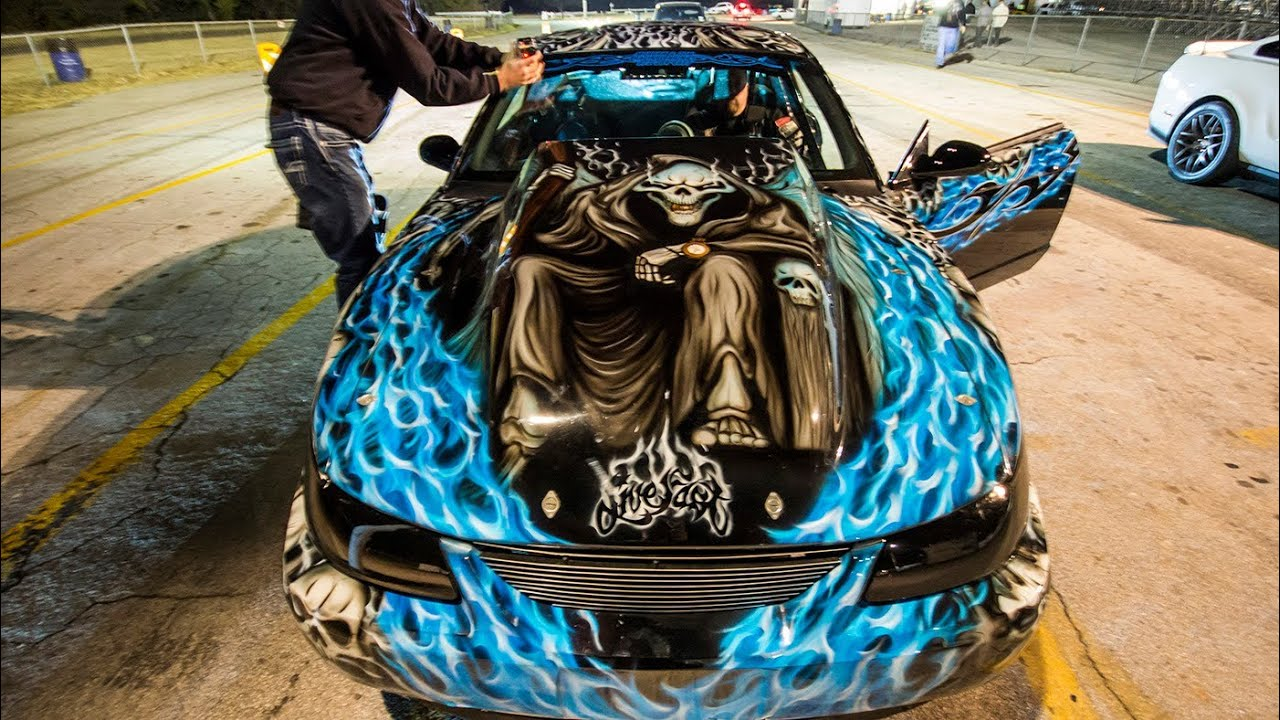 1600hp Nitrous Mustang Insane Paint Job Youtube