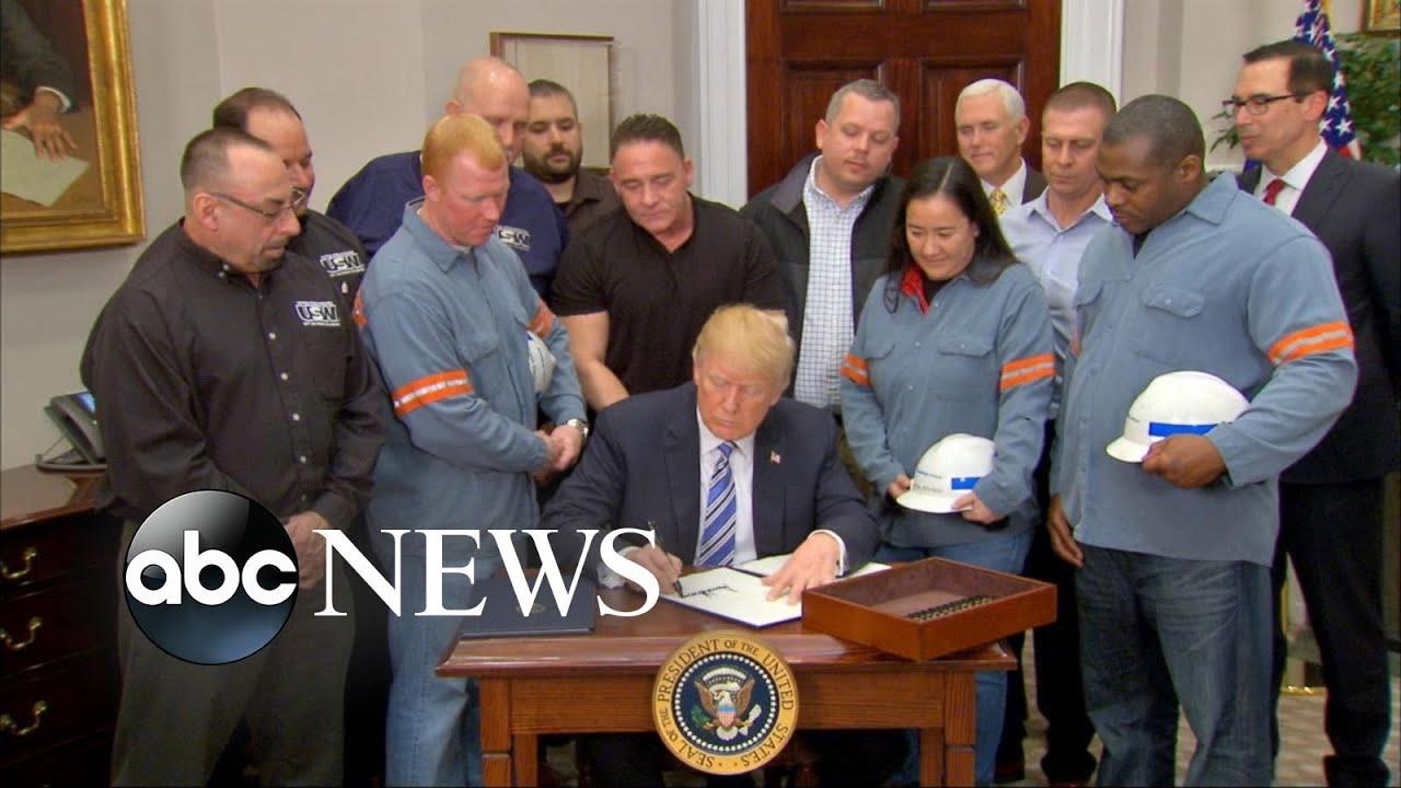 Trump signs new tax on steel and aluminum imports despite critics