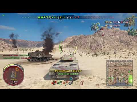 World of Tanks Xbox one AMX 50 100 6 Kills (First game)