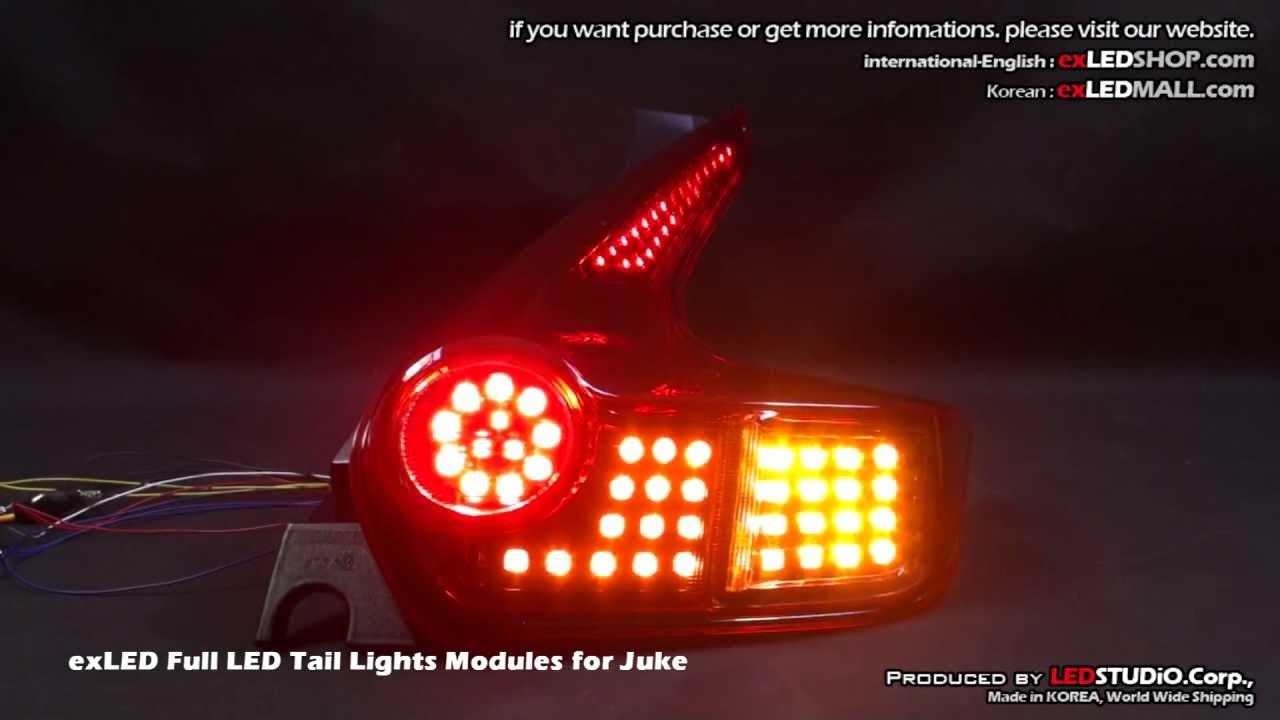 Exled Full Led Tail Lights Modules For Juke Youtube