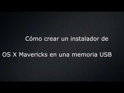 Crear instalador de OS X Mavericks en memoria USB