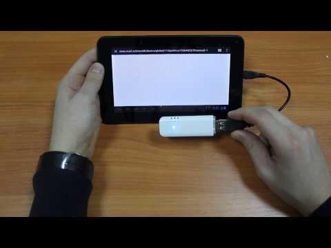 Как подключить 3G модем HUAWEI E160 к планшету на And