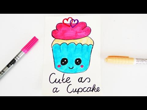 Diy Kawaii Zombie Cupcake Zeichnen Halloween Monster Muffin Malen