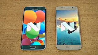 Samsung Galaxy S6 Edge Android 7.0 Nougat vs Galaxy S7 Android 7.0 Nougat - Speed Test! (4K)