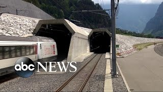 World's Longest and Deepest Train Tunnel Unveiled