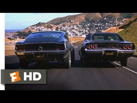 Bullitt (1968) - Ford Mustang Vs. Dodge Charger Scene (5/10)   Movieclips