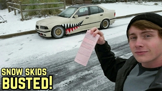 WELDED DIFF + SNOW = TICKET!!! BMW E36 325I DRIFTING