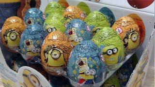 MINIONS 42 Kinder Surprise Eggs from Minions Movie (eng Subtitles)
