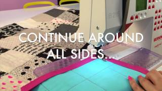 How To Machine Sew Quilt Binding With Mitered Corners