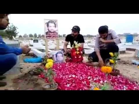 Noor E Nazar Ki Lash Utha Te Hai Kis Tarha Safdar Kaleem Rizvi Reciting  at Grave of Salman  azmi