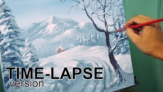 Time-lapse Acrylic Painting Demo - Winter Landscape by JM Lisondra