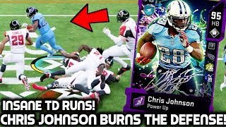 CHRIS JOHNSON BURNS THE DEFENSE! FASTEST RUNNING BACK IN THE GAME! Madden 20 Ultimate Team