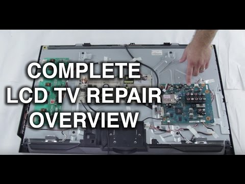 LCD TV Repair Tutorial - LCD TV Parts Overview. Common Symptoms & Solutions - How to Fix LCD TVs