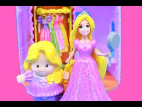 Disney Rapunzel Tangled Flip N Switch Castle Fisher Price Little People Princess AllToyCollector