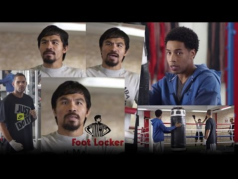 Manny Pacquiao Footlocker Commercial--Takes Subliminal Jab at Floyd Mayweather Fight