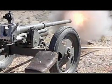 37mm Bofors Anti-Tank  Cannons LIVE FIRE HD and  SloMo
