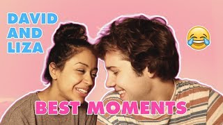 DAVID DOBRIK AND LIZA KOSHY CUTE/FUNNY OUTROS *BEIGE COUCH* 😍