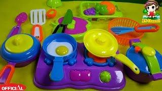 Đồ chơi trẻ em JN Channel  nấu ăn của búp bê Chibi - Đồ chơi nhà bếp búp bê
