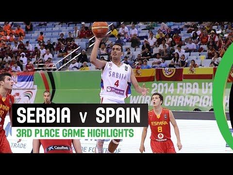 Serbia v Spain - 3rd Place Game Highlights - 2014 FIBA U17 World Championship
